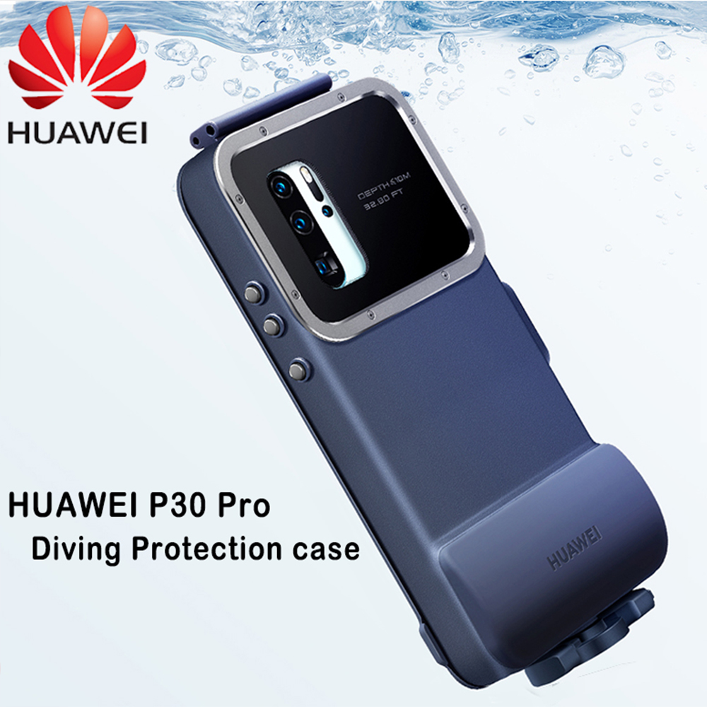 HUAWEI P30 Pro Case Original Official Waterproof Swimming Diving Camera Protect Cover HUAWEI P30 Pro Snorkeling Case Cover-in Fitted Cases from Cellphones & Telecommunications