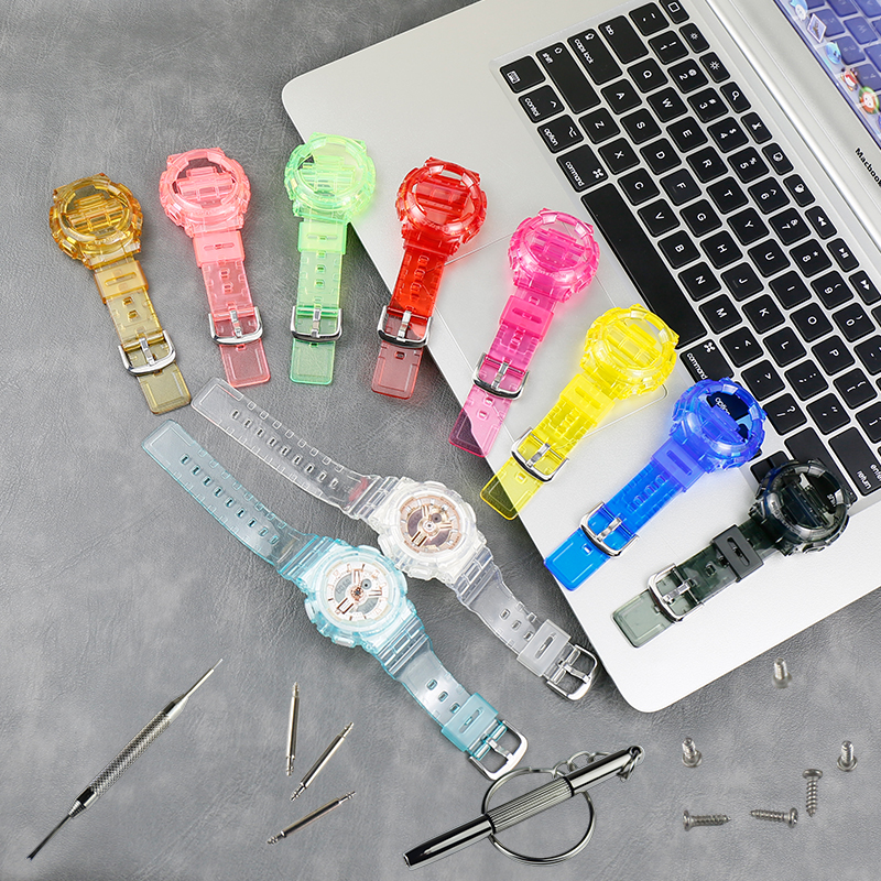 Watch Accessories Resin Strap Case For Men Casio BABY-G BA-110 111 112 3A 4A2 Sports Waterproof Strap Ladies Watch Band