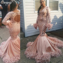 shopify Long Sparkly African Prom Dresses 2019 Mermaid