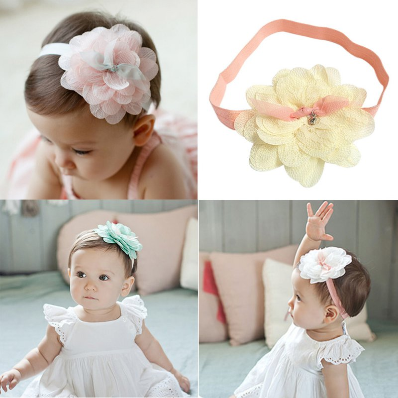 1 pcs Kids Girl Lace Flower Headband Hair Band Accessories Headwear