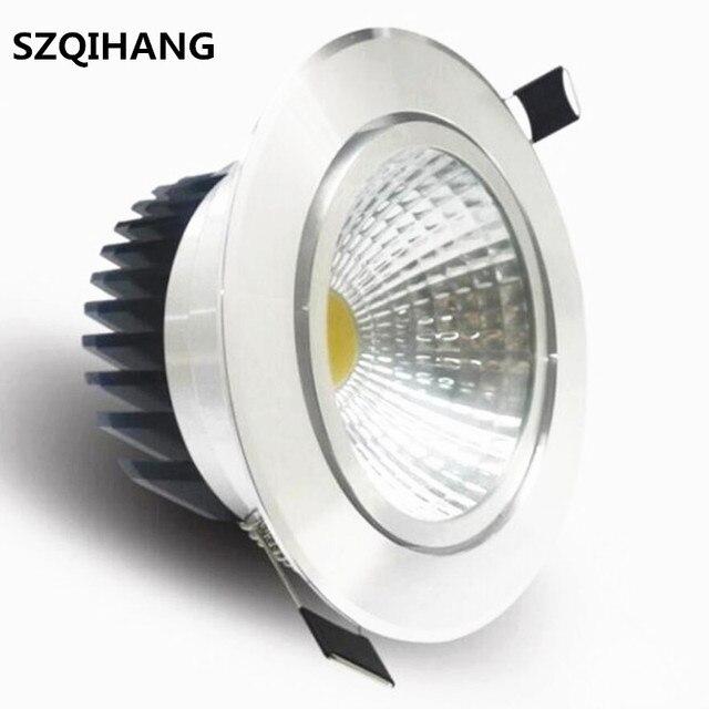 Высокое качество Epistar LED chip-on-board встраиваемый светильник затемнения 7 Вт 10 Вт светодио дный пятна приглушить потолочный светильник 110 V 220 V