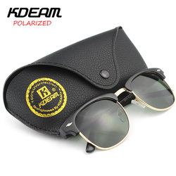 KDEAM Classical Club Polarized Sunglasses Men 51' Width Polaroid Sun Glasses Vintage Women Goggles With Brand Leather Box KD3016