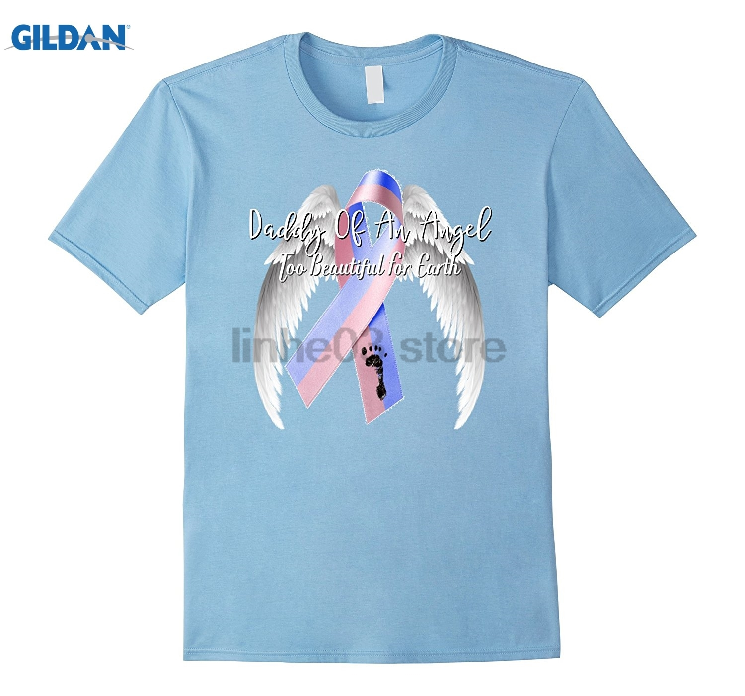 GILDAN Miscarriage Shirt Daddy Of Angel Pregnancy Loss Baby Infant Dress female T-shirt