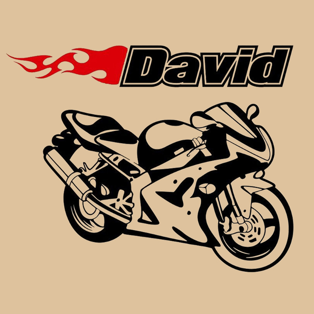 Motorcycle Sportbike Racing Bike Wall Room Custom Name Vinyl Wall - Custom motorcycle stickers racing