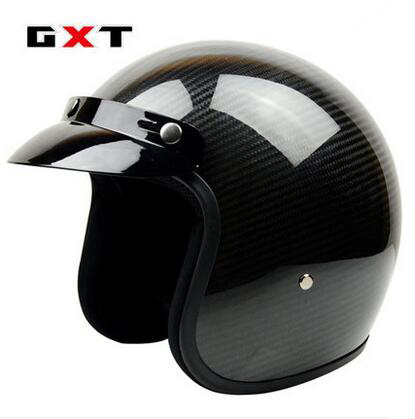 Free shipping! Fashion GXT retro motorcycle helmets vintage 3/4 capacete scooter Carbon Fiber Material open face helmet ECE gxt cross page 4
