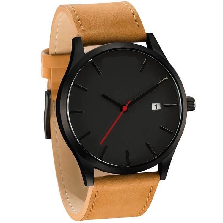 2018 New Big Face Relogio Pulseira De Couro Orologio Uomo Quartz Relogio Masculino De Luxo Abbyfrank Logo Black Casual Watch