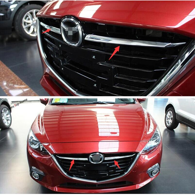 MAZDA 3 III BM since 2013 Grill Bars Trim Covers Steel