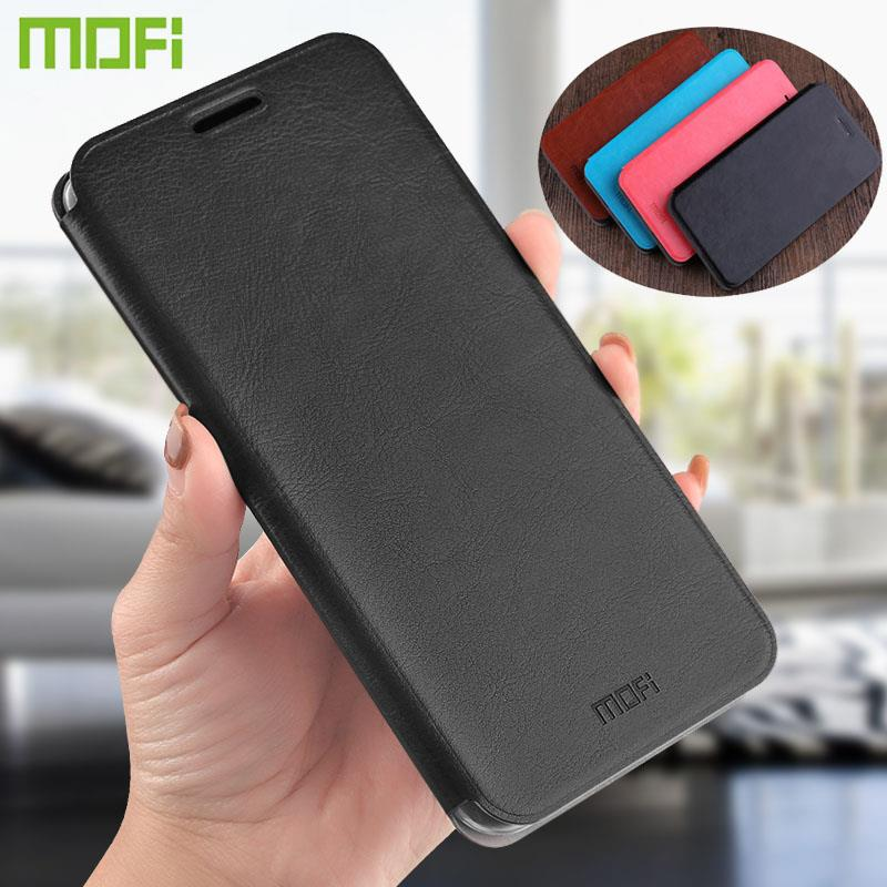 MOFi For Xiaomi Redmi 5 Case Soft Back Cover Steel Plate Inside Cases For Redmi 5 PU Leather Case Flip Style Phone Cases