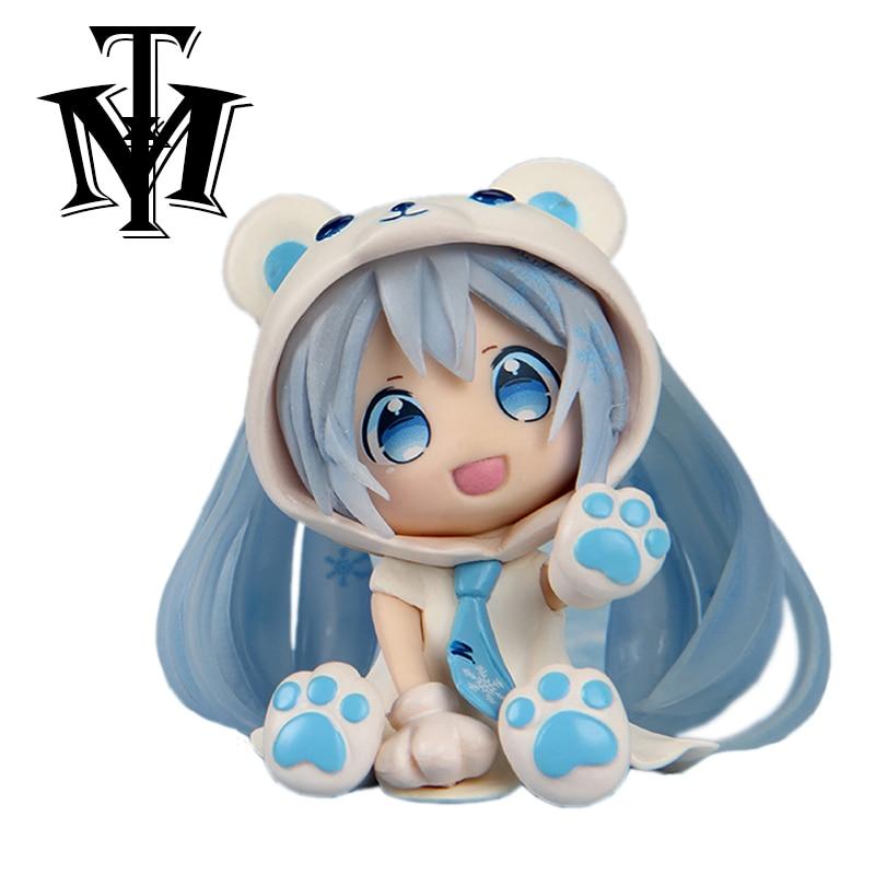Anime figurine Nendoroid Cute Hatsune Miku kids Toys Doll brinquedos PVC Action Figure Collectible Model boneca speelgoed 8 cm figurine