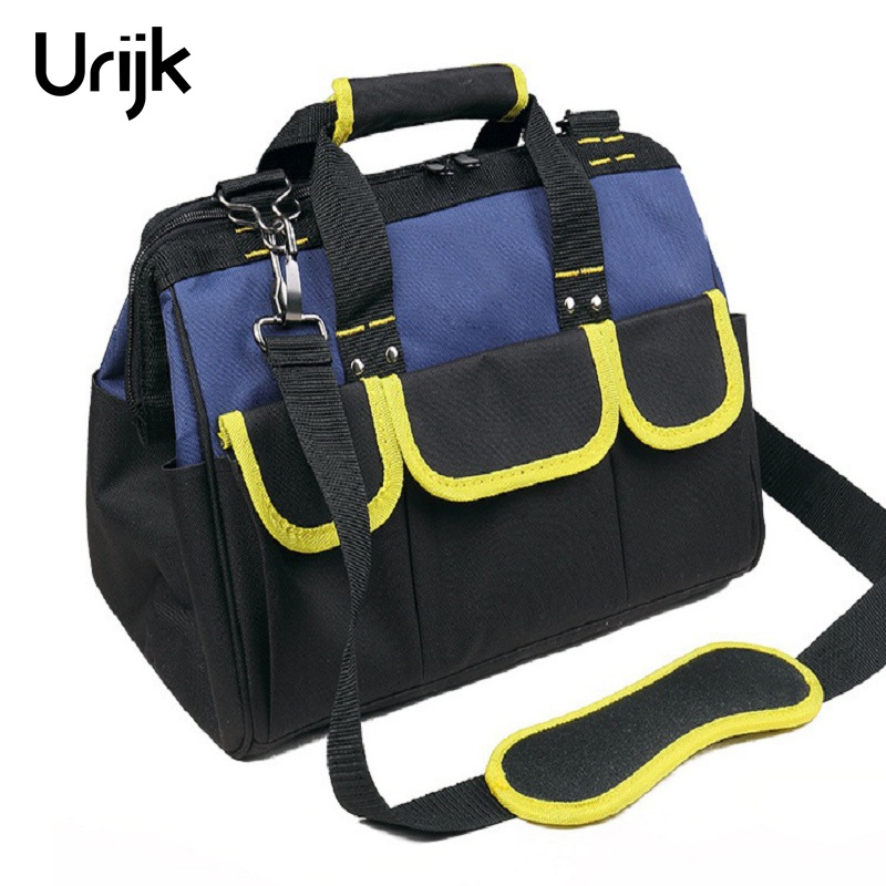 Urijk Multifunction Electrician Tool Bag Large Capacity Thicken Professional Repair Tool Bag Messenger Toolkit 12 15 17 20 Inch canvas kit multifunction waist bag electrician repair water resistant pockets tool bag