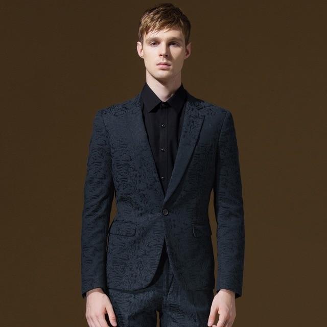 Men Formal Suits Blazers Autumn Winter Young Man Warm Slim Single