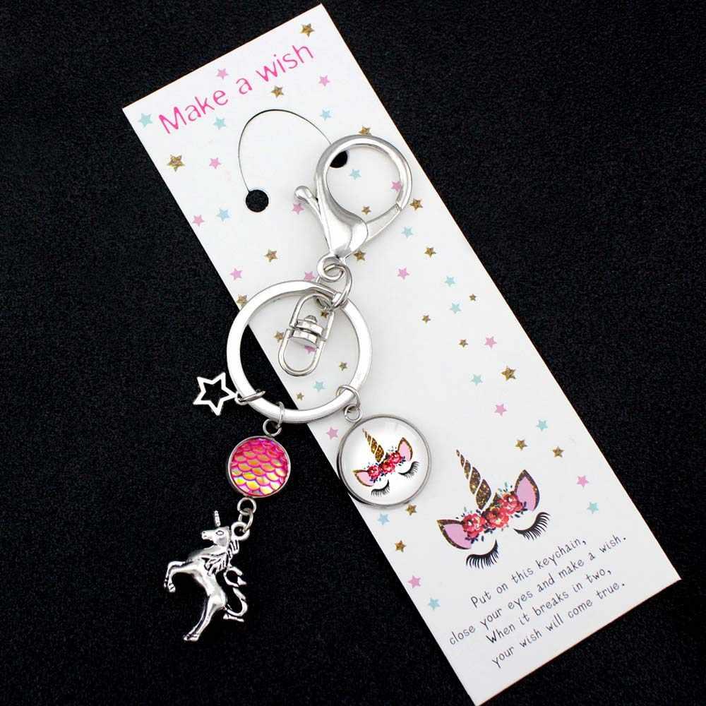 Mermaid Unicorn พวงกุญแจกระเป๋า Key Chain Lobster Clasp Hook Chain Key แหวนเครื่องประดับเลดี้ผู้หญิงผู้ชายแฟชั่นพวงกุญแจ