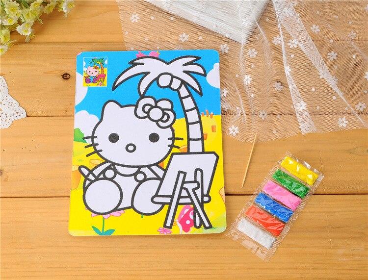 12 pcs sable color peinture 205 15 cm papier dessin avec 6 petits sacs - Dessin Sable Color