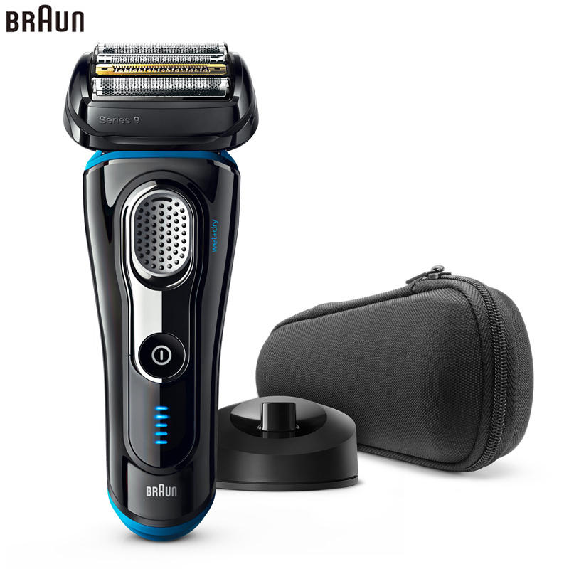 Braun Electric Shaver 9240S For Men Rechargeable Safety Razor Series 9 Reciprocating Shaving Machine Four Heads Straight Razor braun series 3 electric shaver 3080s electric razor blades shaving machine rechargeable electric shaver for men washable