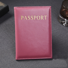 Casual PU Leather Passport Covers Travel Accessories ID Bank Credit Card Bag Men Women Passport Business Holder wallet Case