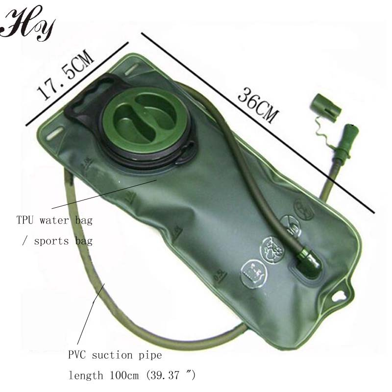 Hydratační měchýř TPU Vodní vak 2L Outdoor Cyklistika Horolezectví Pití Sláma Bag Sportovní Cyklistika Přenosná vodní taška venkovní