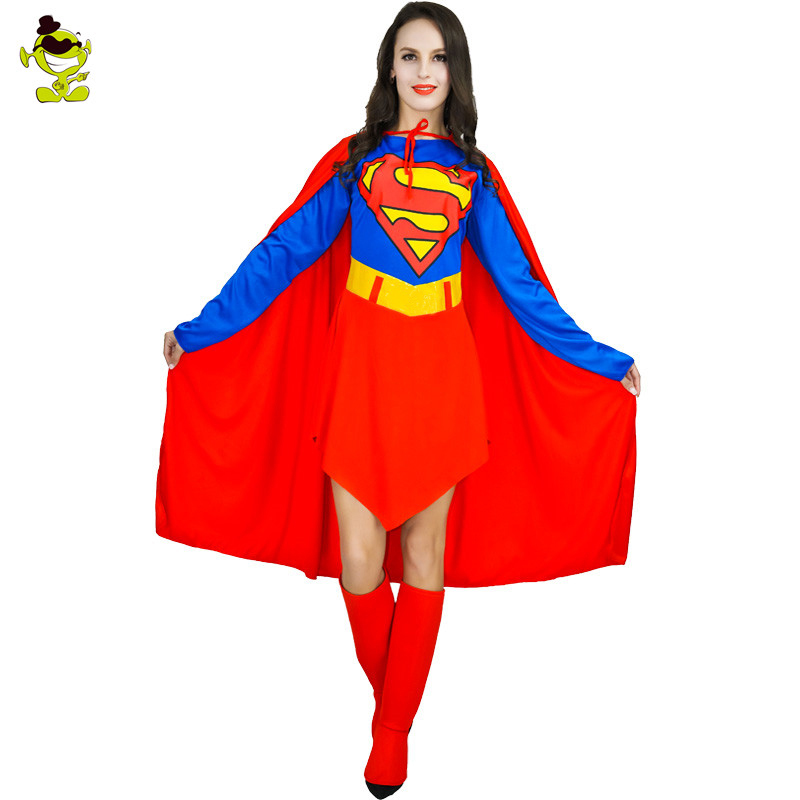 a83cf6a7e Super Hero Girl Costume Women's Sexy Superhero Halloween Cosplay Party Fancy  Dress Outfits