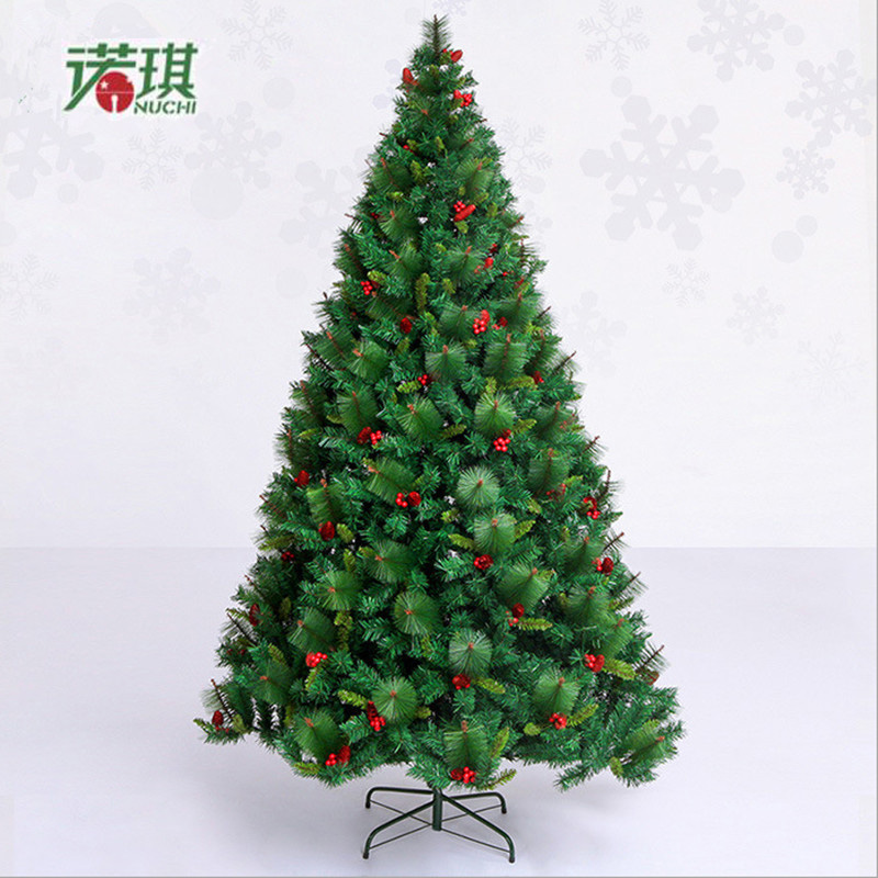 Luxurious Christmas Trees: 2.4 M / 240cm Luxury Encryption Christmas Tree Red Pine