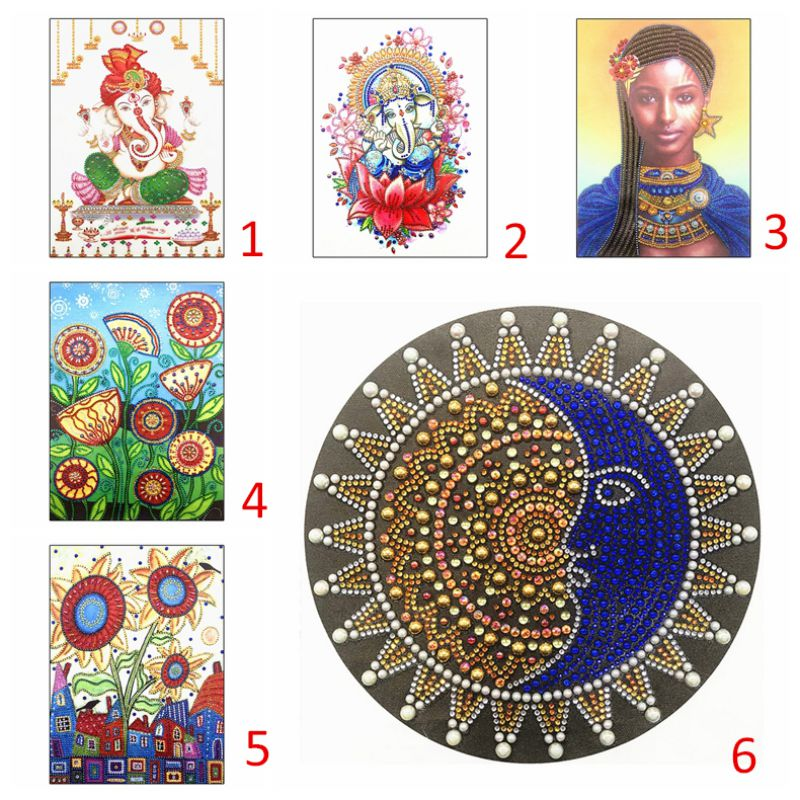 BW#A 5D DIY Special-shaped Drill Diamond Painting Cross Stitch Embroidery Kit