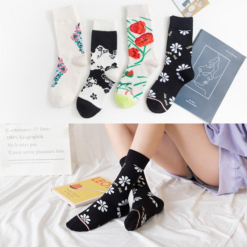 fun socks women moda mujer winter fall aesthetic happy long cotton streetwear modis kawaii fashion novedades 2019 1 pair