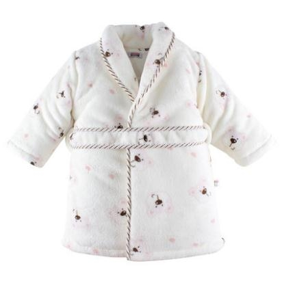 Winter baby bathrobe coral cashmere Double-deck home clothing baby children nightgown cotton pajamas free shipping