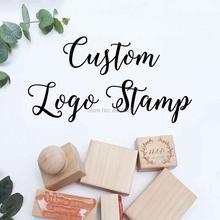 Sello de madera personalizado con logotipo o texto, sello de goma y madera, sello de madera personalizado para negocios, bodas, marcas, eventos