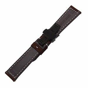 Image 4 - Italien Echtem Leder Armband 20mm 22mm für Samsung Galaxy Uhr 42mm 46mm R810/R800 Schnell release Band Schmetterling Spange Band