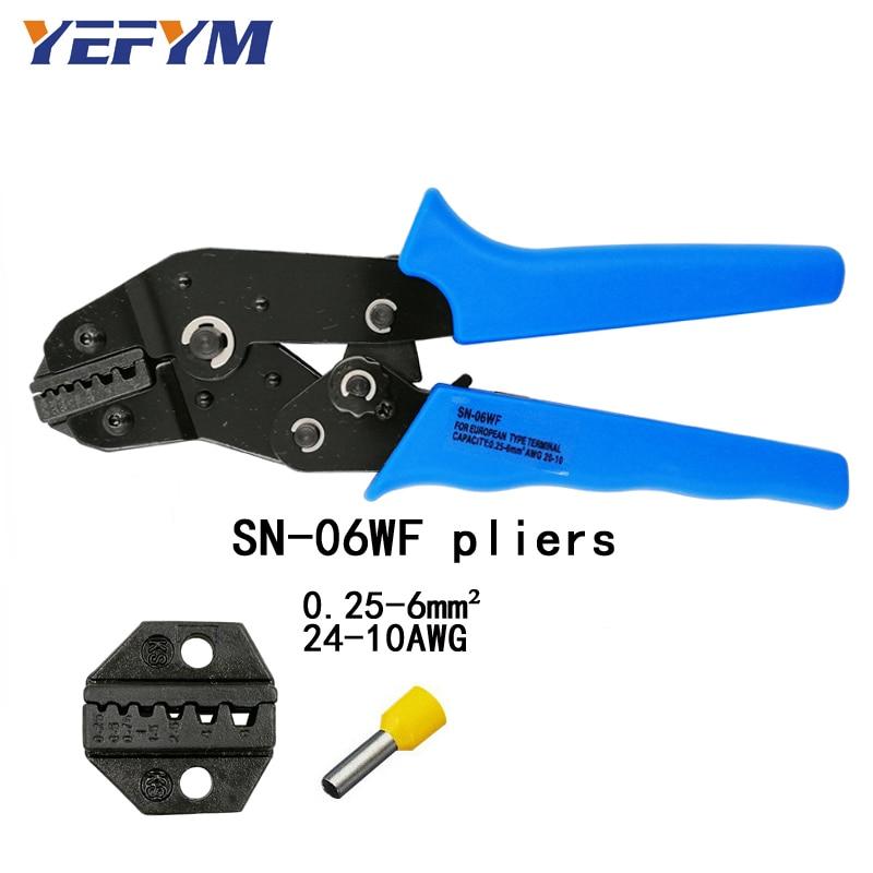 2019 Neuer Stil Yefym Sn-06wf Crimpen Zangen Europäischen Stil Terminal Clamp Selbst-anpassung Kapazität 0,25-6mm2 24-10awg Hand Werkzeuge Zangen