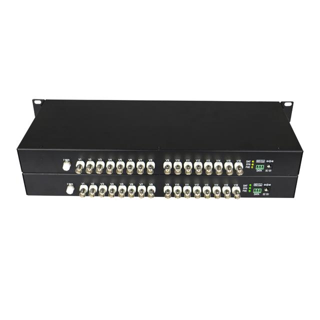 Alta Calidad HD CVI 16 Canal De Video De Fibra Óptica Convertidores transmisor y Receptor-Para 720 P 960 P CVI TVI AHD Cámaras de ALTA DEFINICIÓN CCTV