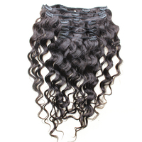 Loose Wave Clip In Human Hair Extensions 7Pcs/120G Full Head Brazilian Hair Clip Natural Hair Comingbuy Hair Remy