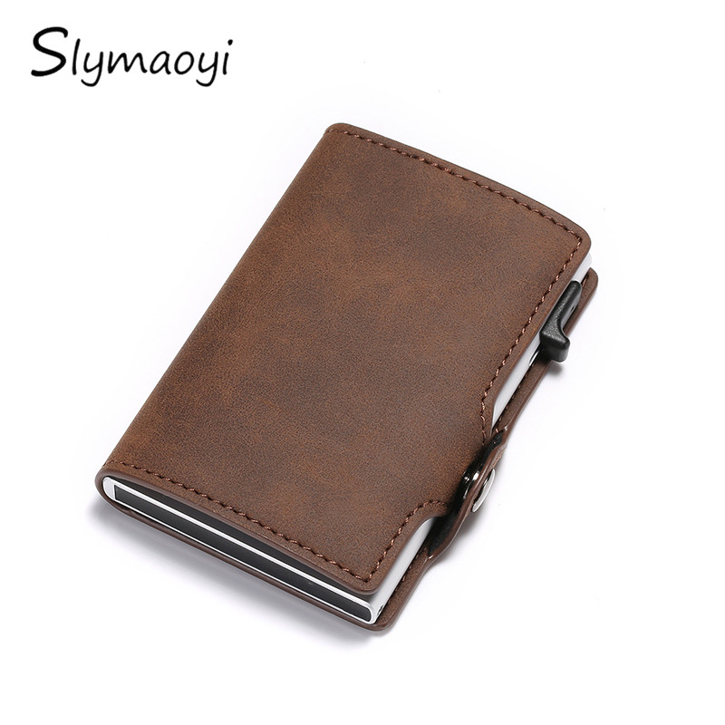 Slymaoyi Brand Credit Card Holders Business Men Card Holders Fashion RFID Card Cases Automatical Aluminium Bank Card Wallets