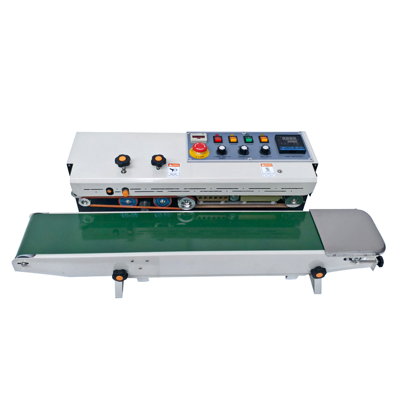 Newest Solid Ink Plastic Bag Heat Sealing Machine/continuous Band Sealer Machine With Counter