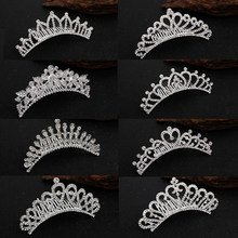 Wedding Hair Jewellery Bridal Comb Tiaras for Girls Rhinestone Hair Accessories Offer Woman Mermaid Queen Crown Metal Headband(China)