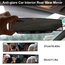 1PCS Panoramic Rear View Mirror Wide Angle Assisted mirror Snap type Installation Car interior rearview