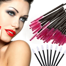 100PCS Disposable Eyelash Brush Mascara Applicator Wand Brushes Eyelash Comb Brushes+ 100PCS Disposable Lip Brush