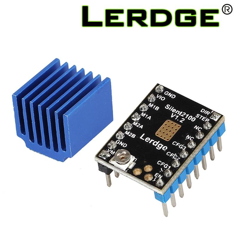 lerdge LERDGE 3D printer part TMC2100 Stepper Motor Driver Stepstick Super Silent With New Heat Sinks 256 Subdivision