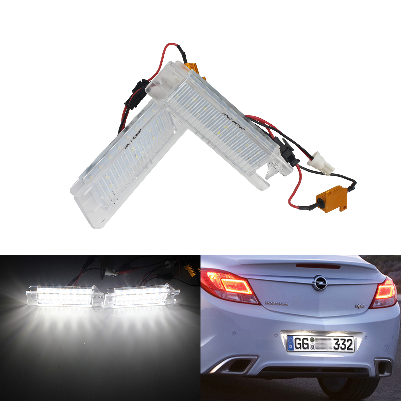 2x LED LICENSE NUMBER PLATE LIGHT OPEL VAUXHALL ZAFIRA TOURER C  CANBUS