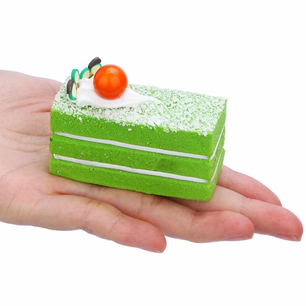 Squishies pastel Arco Iris Jumbo lento levantamiento Kawaii queso perfumado Squishies encanto Linda correa de pan chico regalo