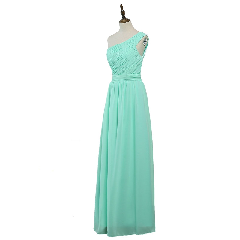 Aliexpress.com   Buy Vestido de madrinha de casamento longo2018 new chiffon  a Line mint green bridsmaid dresses plus size wedding party dress from  Reliable ... 92952008796c