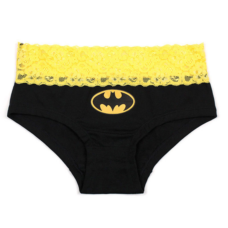 HERO Batman Superman Cartoon Printed Lace Cotton Women Panties Breathable  Ropa Interior Triangle Female Underwear Briefs 18 on Aliexpress.com  05ad2b80f