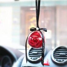 Автомобильная подвеска вечная роза висячие украшения автомобиля зеркало заднего вида подвеска мыло цветок украшение автомобиля аксессуары