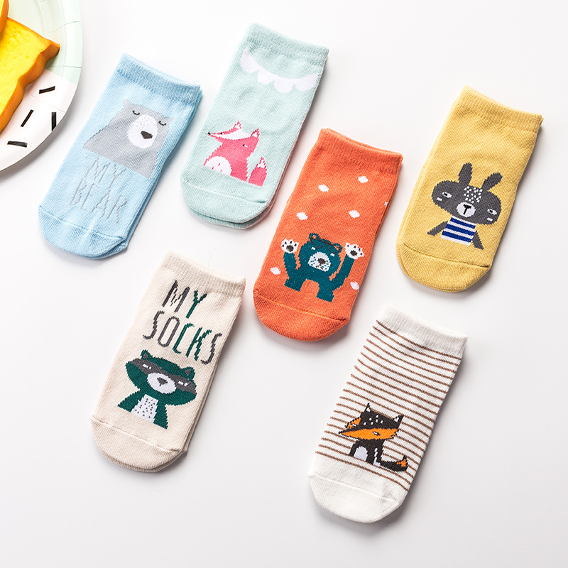 New!!! 2019 Spring Autumn Winter Baby Cotton Socks Boys Girls Newborn Infant Toddler Anti-slip Cartoon Floor Socks For 0-24month