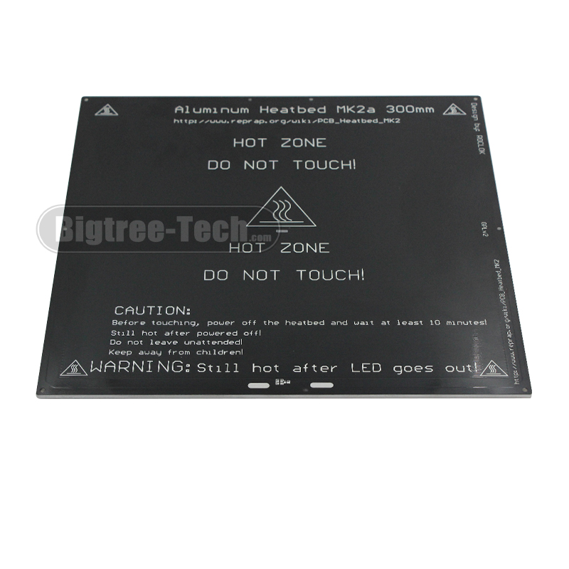 2017 MK2A 300 300 3 0mm RepRap RAMPS 1 4 PCB Aluminum Heatbed Hot Plate For