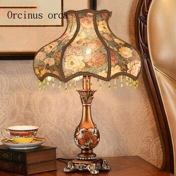 European classical bedroom bedside lamp complex creative Nordic luxury American decorative art study lamp Postage free