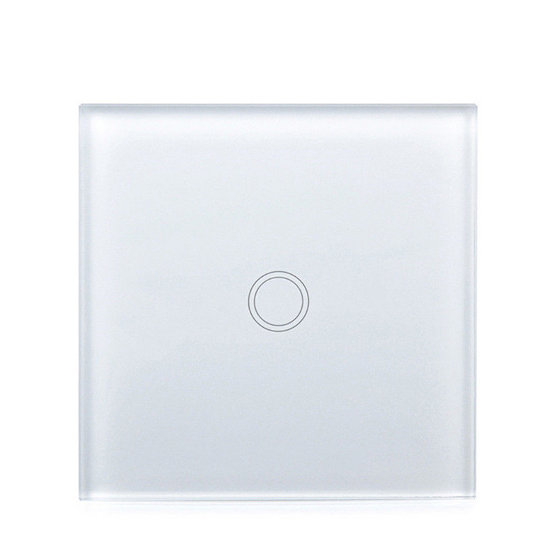 Elite Kilter EU/UK стандартный настенный Дистанционное управление освещением 220 В сенсорный выключатель 1 банда 6 способов розетка с разными гнездами белое Хрустальное стекло - 2