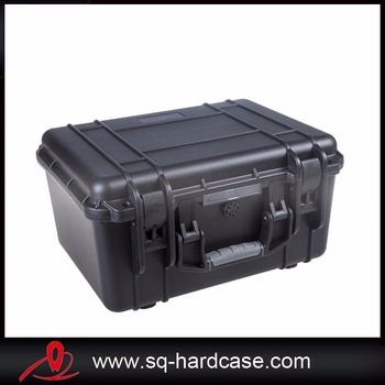 shockproof watertight plastic transport case for tools without uncut foam