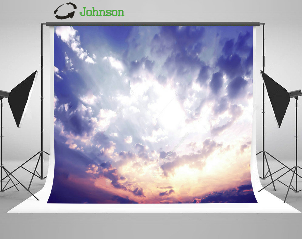 Sky Clouds Sunset backdrops polyester or Vinyl cloth High quality Computer print wall Photography Backgrounds