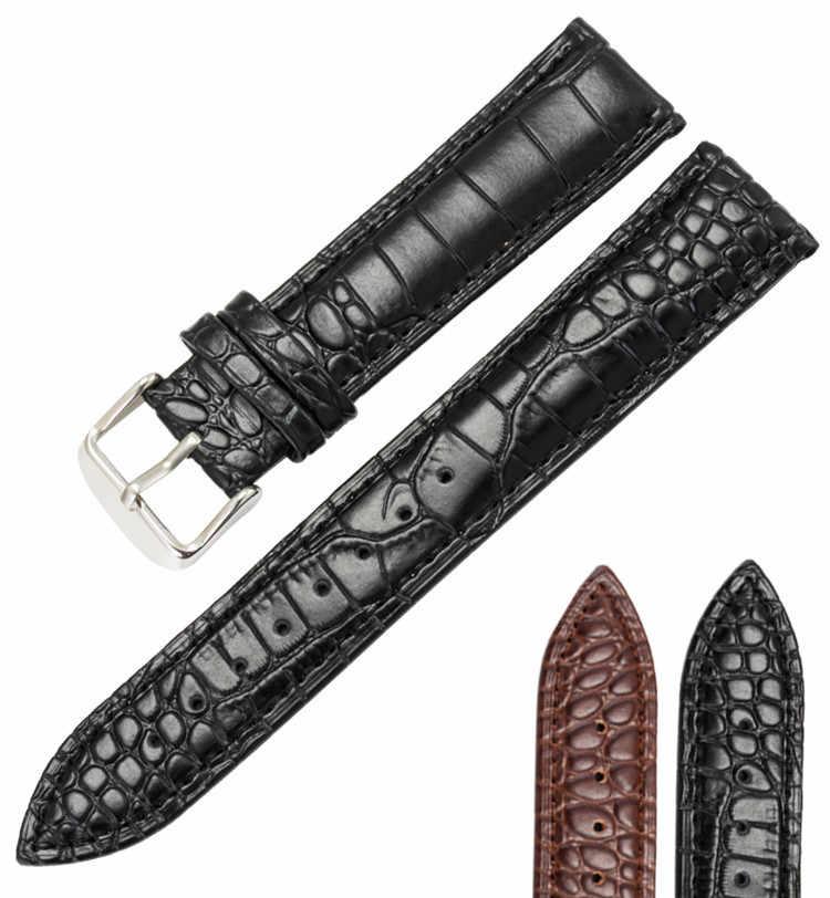 Ящерица, змея кожа телячьей кожи 16 18 19 20 22 мм Мужские Женские ремешки для часов черный коричневый браслет ремень ремешок для часов