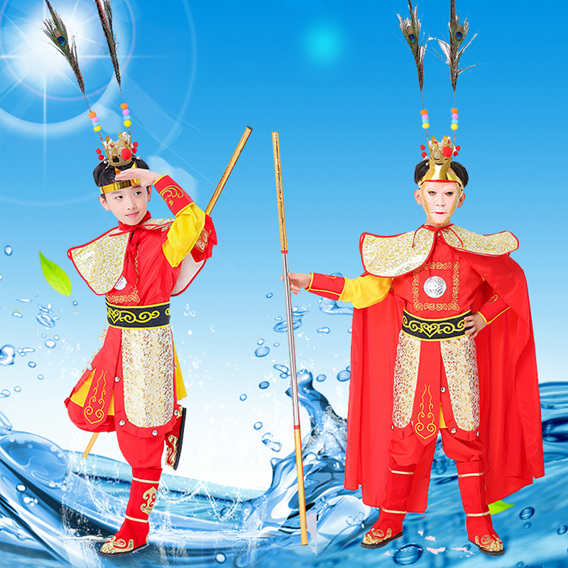 Boys Costumes Precise Sun Wukong Costumes For Children Halloween Cosplay Funny Costumes Chinese Tv Play Monkey King Costumes For Kids