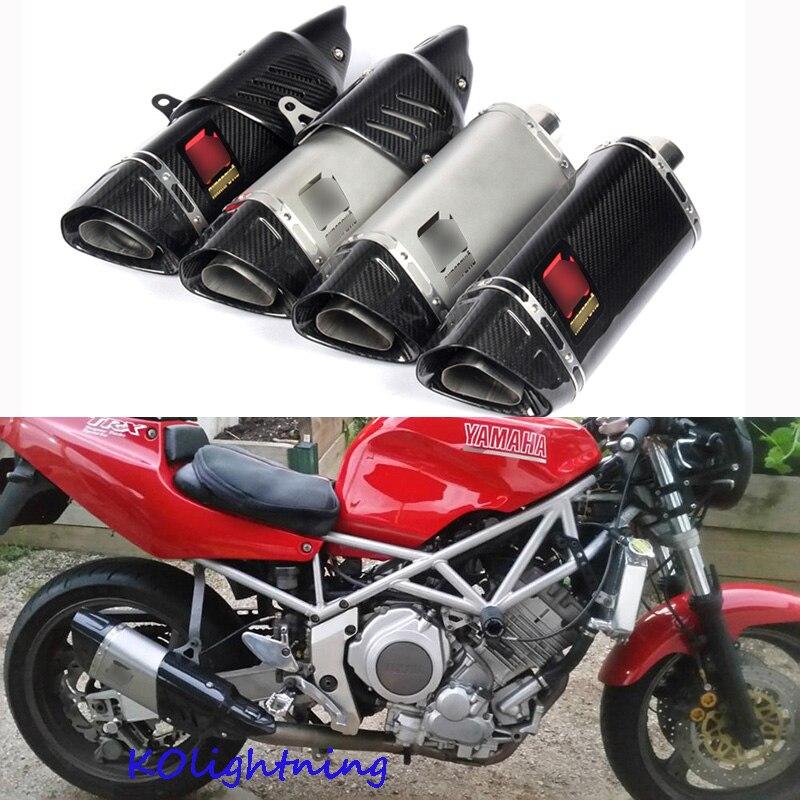 Универсальный 51 мм мотоцикл выхлопной Системы глушитель трубы углерода fifber мото выхлопных Системы для R1 R6 R3 Z750 Z800 K6 k7 K8 K9